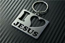 I LOVE JESUS Keyring keyfob Schlüsselring porte-clés GIFT christianity GOD FAITH