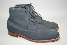 Alden Men's Made in USA Navy Suede Oxford Drawstring Boots Size 42/ US 9