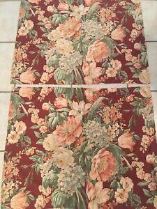 Ralph Lauren Desert Plains Standard Pillow Shams Set of 2 Red Floral Rose Lilac