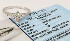 0.47 ct 14K White Gold Marquise Cut Diamond Engagement Ring EGL-USA Rtl $2,250