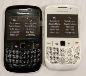 New BlackBerry Curve 8520 - Black White 2G GSM Unlocked
