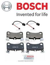 For Audi Q7 10-14 Rear Brake Pad Set & 2 Rear Sensors Bosch Quietcast/Pex