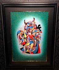 """A. KRASNYANSKY Original Hand Signed Serigraph """"TOREADORE"""", COA, Framed, Large"""