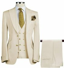 Business Men Suits Slim Fit Groom Tuxedos Formal Wedding Double Breasted Custom