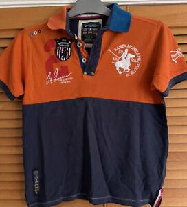 Girls Polo Shirt Santa Monica Polo Club Tshirt Age 11/12 Yrs