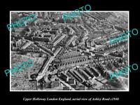 OLD LARGE HISTORIC PHOTO OF UPPER HOLLOWAY ENGLAND, VIEW OF THE TOWN c1940