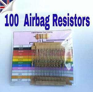 MOT light bypass AIRBAG RESISTOR 100 x Mixed Ohm Trade Pack SRS tool all makes