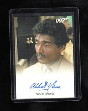 James Bond 50th Anniversary Albert Moses auto card