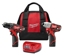 "Milwaukee 2494-22 12V Li-Ion 1/4"" Hex Cordless Drill/Driver Kit"