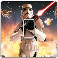 Star Wars Stormtrooper Light Switch Vinyl Sticker Decal for Kids Bedroom #373