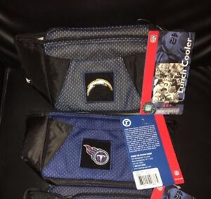NFL Football Technomesh 6-Pack Sport Lunch Box Cooler *NEW* L.A. Chargers Titans