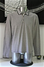 bonito suéter sudadera col con botones gris HUGO BOSS NARANJA talla XL
