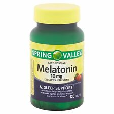 Spring Valley Fast Dissolve Melatonin 10 mg Strawberry Dietary Supplement 120 ct