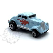 1989 Galoob MICRO MACHINES 33 Willys Coupe Light Blue Red Flame