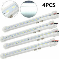 4Pcs 5630 15 LED Car Interior Lights 12V Strip Bar Light Lamp Van Caravan Boat
