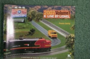 K-Line by Lionel  - 2007 Catalog Volume 1  Premier Catalog