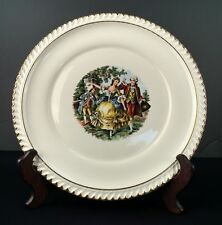 "Vintage The Harker Pottery Co Courting Couple 10"" Dinner Plate"