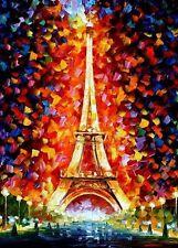 11ct Stamped Cross Stitch kit Paris Eiffel Tower Needlework CR2001