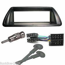 FIAT MAREA WEEKEND BLACK SINGLE DIN FITTING KIT 1996-2002 PANEL ADAPTOR FASCIA