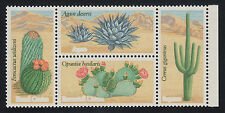 US Sc 1945b MNH. 1981 20c Cactus Block, brown print omitted ERROR, Cert