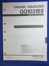 Yamaha GQ1031BII Graphic EQ Service Manual Factory Original The Real Thin