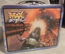 NEW MAX STEEL FIGHTER PILOT TIN BOX TOTE COLLECTIBLE