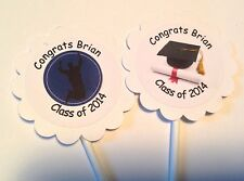 Graduation Congrats Grad Customized Cupcake Toppers/Picks 12 Count
