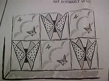 Vintage Quilt Pattern Mail Order Fancy Deco Style Butterfly Pieced 1930s Era