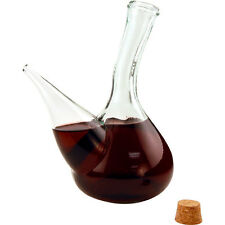 Hand-Blown Glass Spanish Porron Wine Pitcher - Sangria Decanter Gift - Home Bar