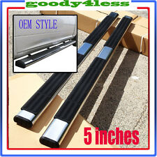 "For 01-13 Silverado Sierra Crew Cab Aluminum 5"" Oval Nerf Bar Side Step OE Style"
