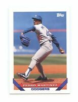 1993 Topps #557 Pedro Martinez Los Angeles Dodgers Rookie Card