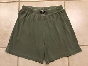 Vintage Made In USA Everlast Green Workout Gym Shorts Athletic Cotton