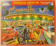 White Mountain 1000 Piece Puzzle American Drive In 1450