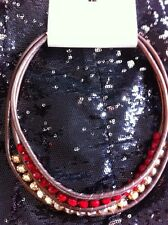 Topshop Necklace Collar Red Crystal Champagne New  £14.00