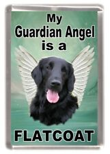 "Flatcoated Retriever Dog Fridge Magnet ""My Guardian Angel is a... "" by Starprint"