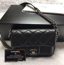 Chanel Rock my Shoulder Flap Bag Black Calfskin