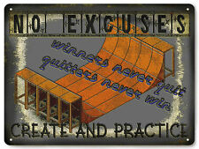 Skate board ramp Metal sign X games motivational game room vintage style art 611