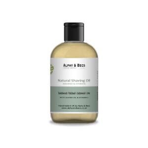 Alphy&Becs Natural Shaving Oil Sandalwood, Patchouli, Cedarwood & Lime 100ml