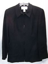 Women's Jones of New York  Deep Black Coat Jacket Blazer Size 6