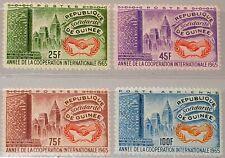 GUINEA 1965 314-17 394-96 C75 Intl. Cooperation Year Jahr Zusammenarbeit UNO MNH