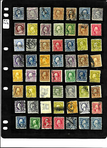 Few Coils Washington Franklin Collection 1-20 Cent Untyped US A28