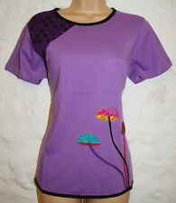 New Fair Trade Top Size 28 30 - Hippy Ethnic Cotton Hippie T-Shirt Mushroom
