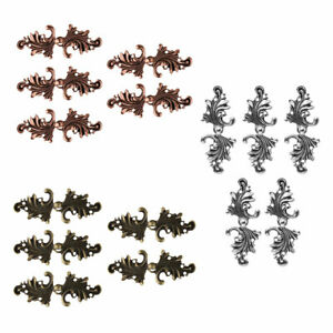 5 Pairs Leaf Cape Clip Cloak Clasp Sew Fastener Brooch Pin Buttons ARTS & CRAFTS