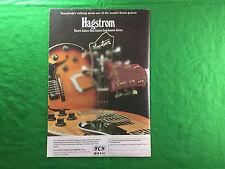 Hagstrom annuncio per chitarre elettriche Bass Guitars semi-acustica-GIUGNO 1978