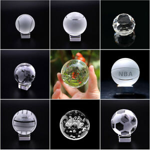 50mm-100mm Quartz Crystal Sphere Ball Paperweight Glass Crafts Stone Figurines
