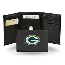 Green Bay Packers Embroidered Leather Tri Fold Wallet by Rico