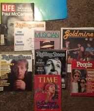 The Beatles - Paul McCartney, John Lennon Magazine Lot of 8 (Time,Life, etc)
