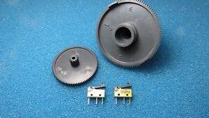 Zahnräder Zahnrad Getriebe Doppelzahnrad Saeco Vienna SUP018 mit Mikroschaltern