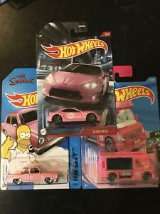 Hot Wheels - Simpsons Car, Scion FR-5 & Barbie Dream Camper