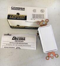 LEVITON 5621-2W 20A 120/277V DECORA PLUS ROCKER 1-POLE AC QUIET SWITCH, WHITE